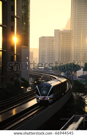 KL Sentral the newest commercial hub in Kuala Lumpur, Malaysia - stock photo