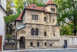 Klaus synagogue and cemetery, Jewish quarter Josefov, Old town (UNESCO), Prague, Czech republic - protected as national cultural landmark.