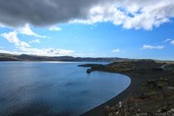 Kleifarvatn lake landscape, southern peninsula, Reykjanes, Iceland