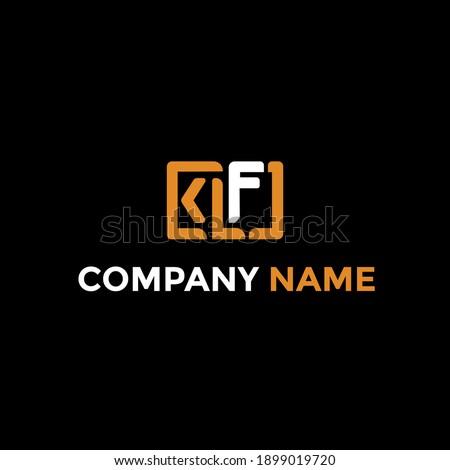 klf letter logo template design , creative k l f letter logo template Stock fotó ©