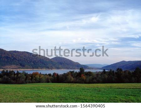 Klimkowka Lake, Beskid Niski Mountains, Carpathians Mountains, Poland Zdjęcia stock ©
