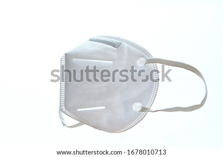 KN95 or N95 mask for protection pm 2.5 and corona virus (COVID-19).Anti pollution mask.air face mask.N95 mask with white background.