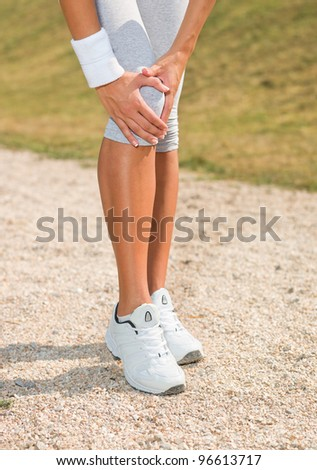 Knee injury - stock photo
