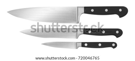 knife, chief knife, steel blade, white background