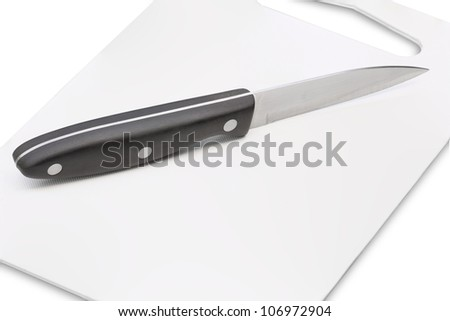 Knife on the chopping board