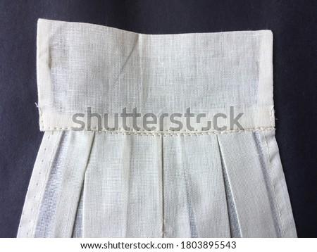 Knife pleats on the fabric  ストックフォト ©