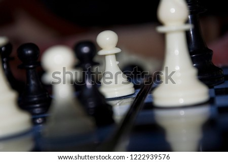 Knight battle and chess