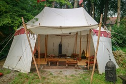 Knight camp at medieval in Germany.