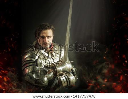 knight in glisten armours prepare for fight