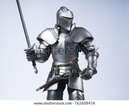 Knight in silver armour Stock photo ©
