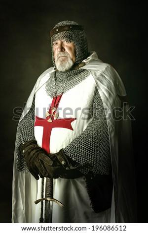 knight templar posing with...