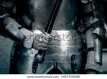Knight with Sword, ancient Sword, vintage Picture #1487458088