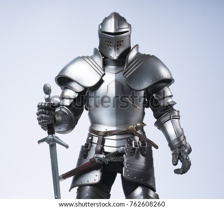 Knight with sword and shield Foto stock ©