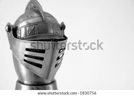 Knights Helmet with copy-space