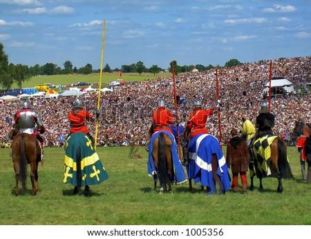 knights on horses - Grunwald, Poland
