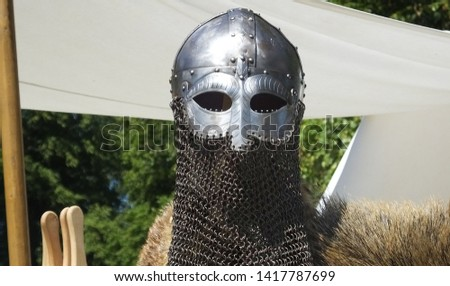 Photo of  Knights weaponry and Armour used in fighting with swords and shields