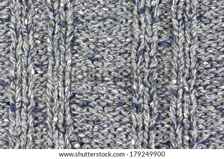 Knitted fabric from fancy yarn.