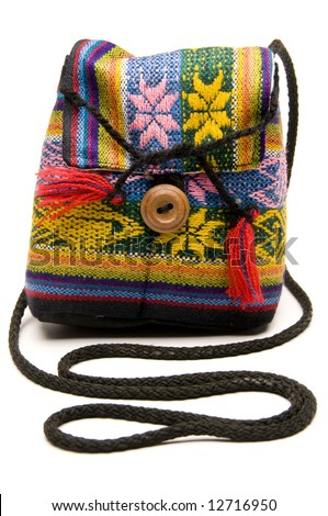 knitted hand made change purse handbag produced in honduras central america