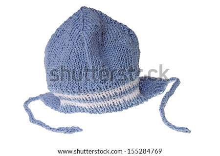 knitted hat isolated / baby stuff
