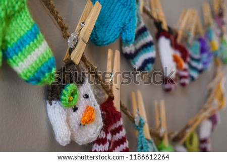 Knitted Mini Mittens #1186612264