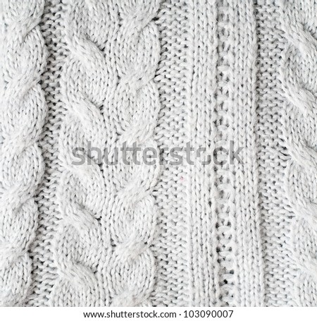 Knitted pattern background