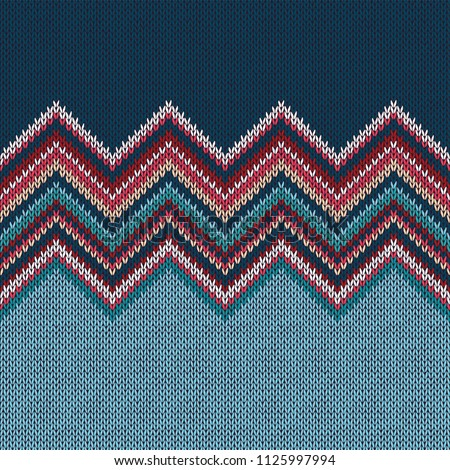 Knitted seamless pattern. Classic Knitwear. Fashion consept background.