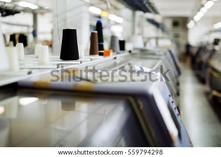 Shutterstock Knitting and weaving machines in textile industry