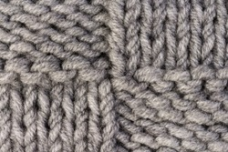 Knitting. Gray knitted pattern background or knit fabric texture background