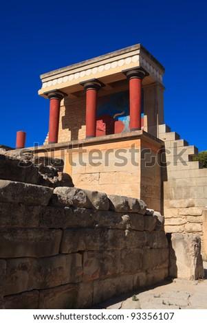 Knossos Minoan Palace in Crete, Greece