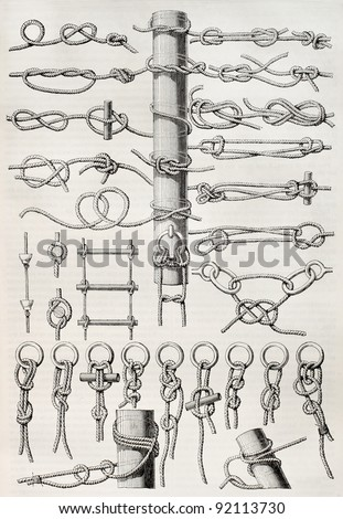 knot table old illustration....