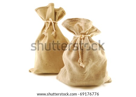 knotted bag isolated on a white background