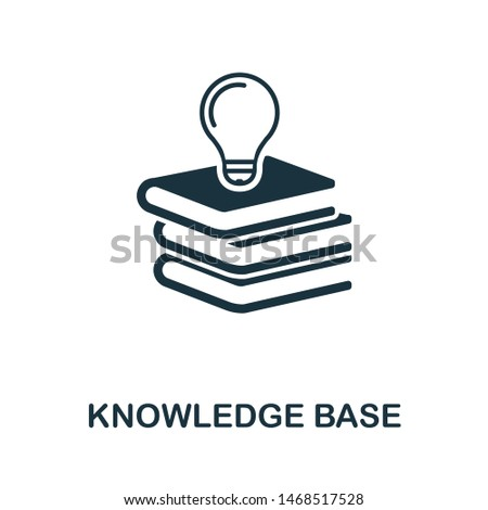 Knowledge Base icon illustration. Creative sign from icons collection. Filled flat Knowledge Base icon for computer and mobile. Symbol, logo graphics.