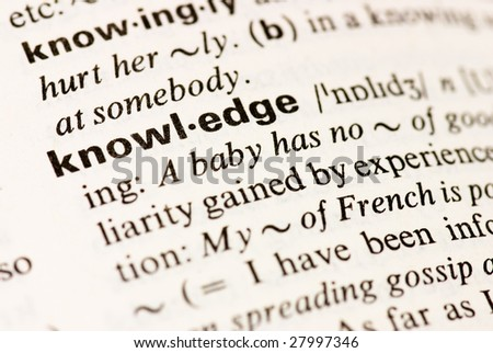knowledge dictionary word