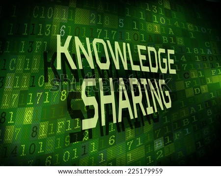 knowledge sharing words isolated on internet digital background