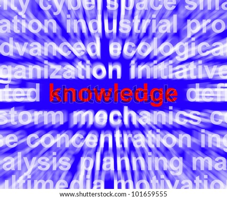 Knowledge Word Shows Education Wisdom And Learning