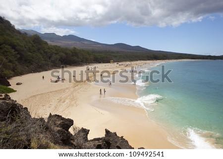 Known as Big Beach on Maui, Hawaii