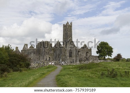 Known as Quin Abbey, this ancient friary in County Clare, Ireland is one of the best preserved Franciscan ruins from the 12th century.
