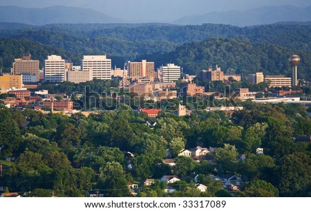 Knoxville, Tennessee skyline.