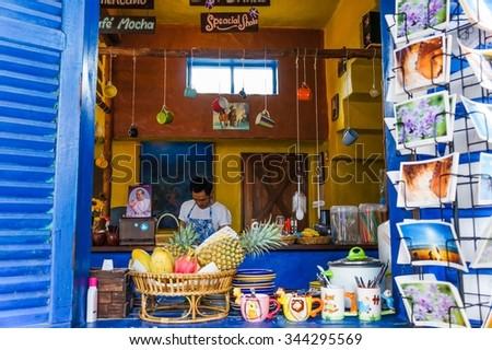 Ko Lanta, Thailand - Circa December 2012 - A street shop #344295569