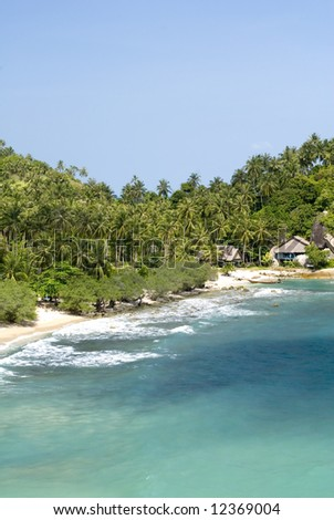 Ko Pha Ngan beach, Thailand - stock photo
