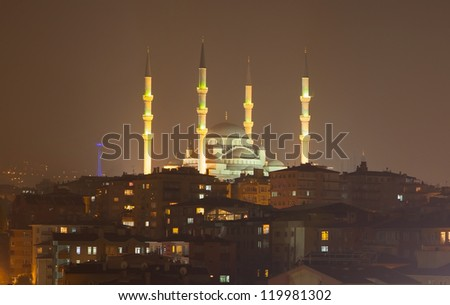 Kocatepe Mosque , Ankara Turkey