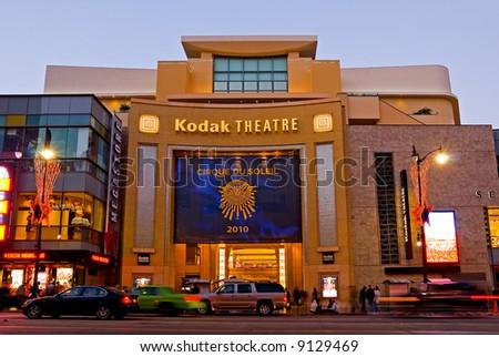 Kodak Theater in Hollywood at night
