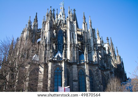 koelner dom cologne cathedral in koelne germany stock photo 49870564 shutterstock. Black Bedroom Furniture Sets. Home Design Ideas