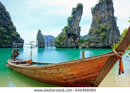 Koh Kudu Yai located in the north of Koh Yao Noi Island, Phang Nga Bay, Thailand - Shutterstock ID 646486084