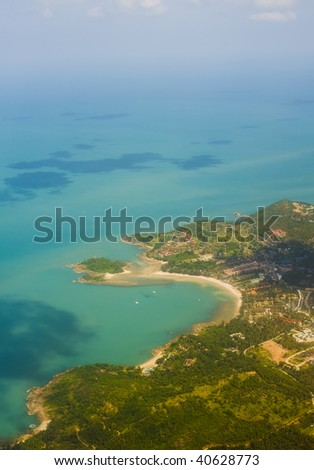 koh samui in thailand from the bird view perspective