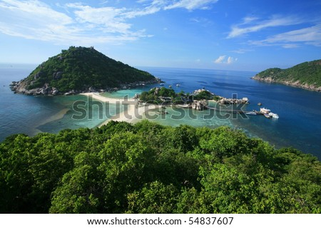 stock photo : koh tao koh nagyuan thailand