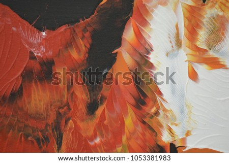 Koi art painting with swirling color movement fresh wet colorful oriental mood hot lava ripple mysticism and fantasy #1053381983