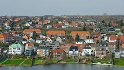 Kolding, Denmark - April 7, 2010: City view