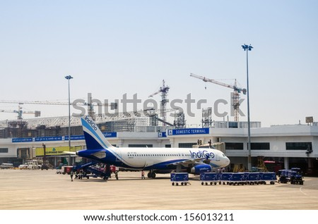 KOLKATA,INDIA - APRIL 14: Kolkata airport has a distinguished place in the history of aviation serving as a stopover on the air route from Europe to Indochina on April14, 2012 in Kolkata,India.