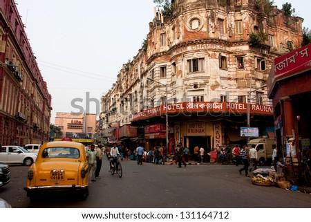 kolkata  india   jan 19  taxi...